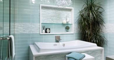 скляна плитка для ванної кімнати
