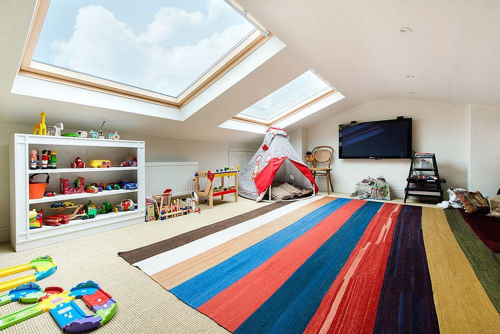 дитяча кімната на мансарді фото