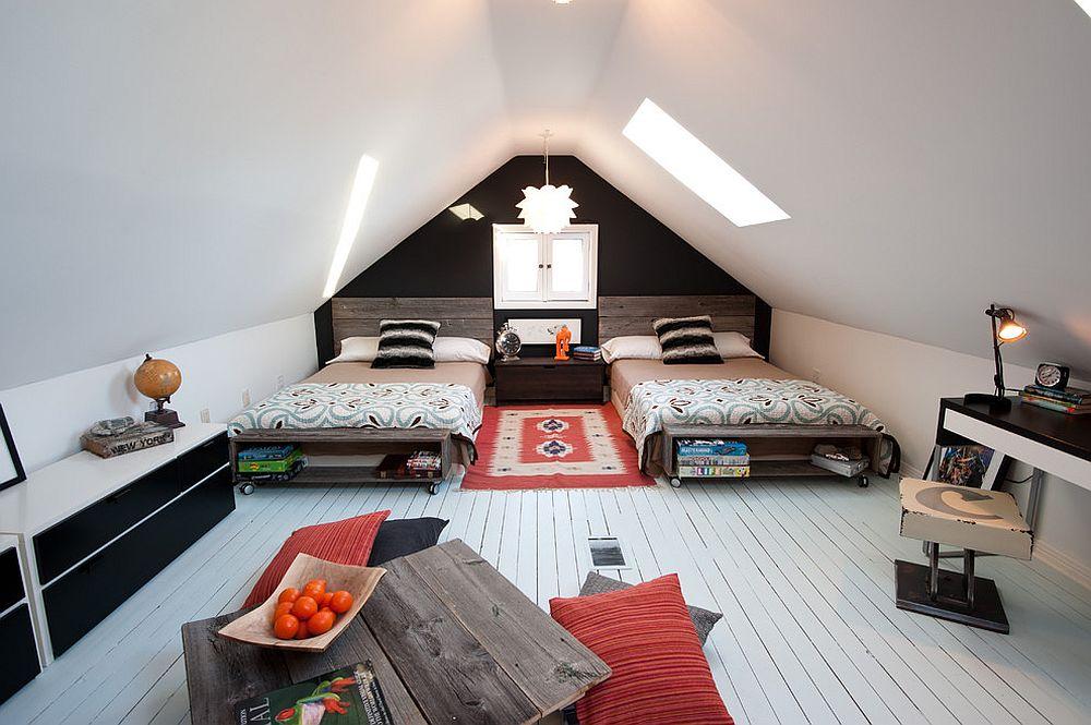 Дитяча кімната на мансарді