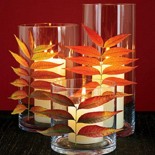 декор з осіннього листя