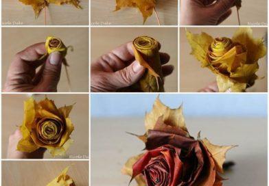 Чарівний декор з осіннього листя, для вашого будинку.