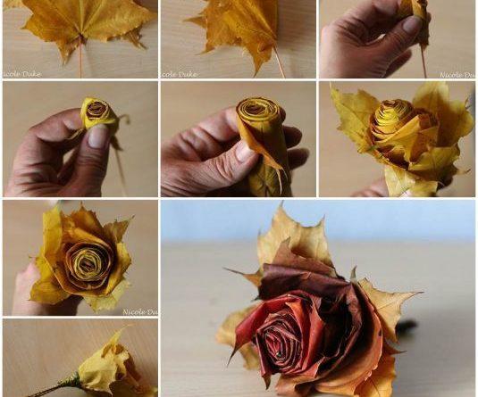 троянда з листя