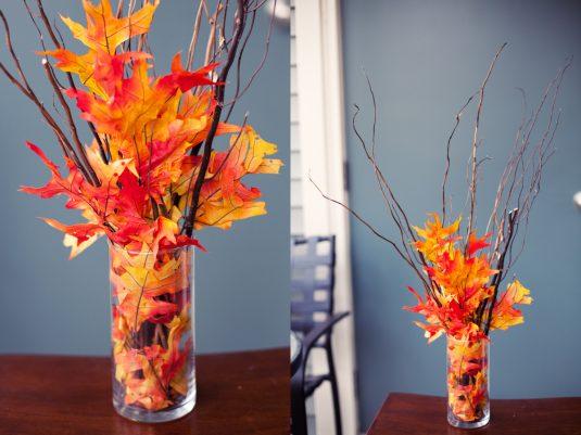 букет з осіннього листя