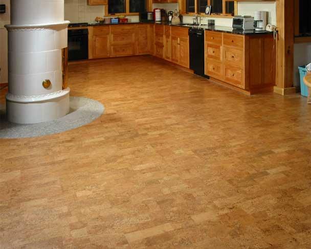 пробкова підлога на кухні