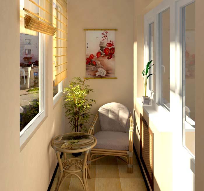 Оздоблення стін балкону гіпсокартоном
