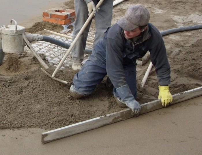 вирівнювання бетонної підлоги