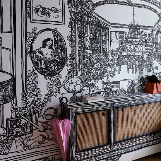 шпалери на стіни в коридор фото