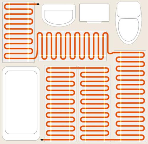 укладання електричної теплої підлоги у ванній