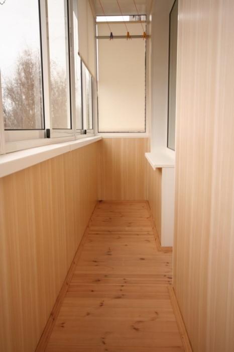 Оздоблення балкона МДФ панелями