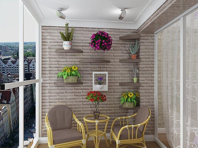 Декоративний камінь для аздоблення балкона