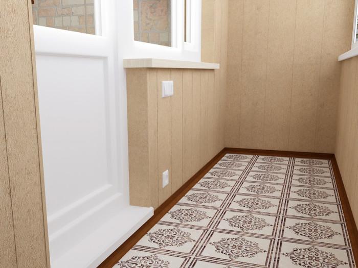 підлога на балконі з керамічної плитки
