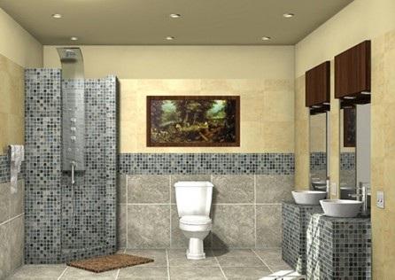 інтер'єр ванної кімнати з плитки