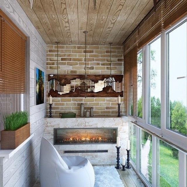 интерьер балкона в морском стиле