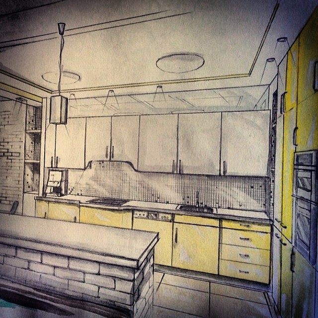 ремонт маленької кухні фото