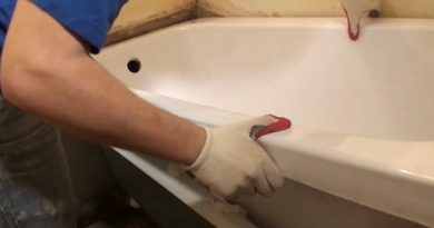 установка акрилового вкладиша в ванну