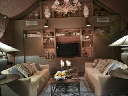 дизайн гостинной комнаты в стиле кантри
