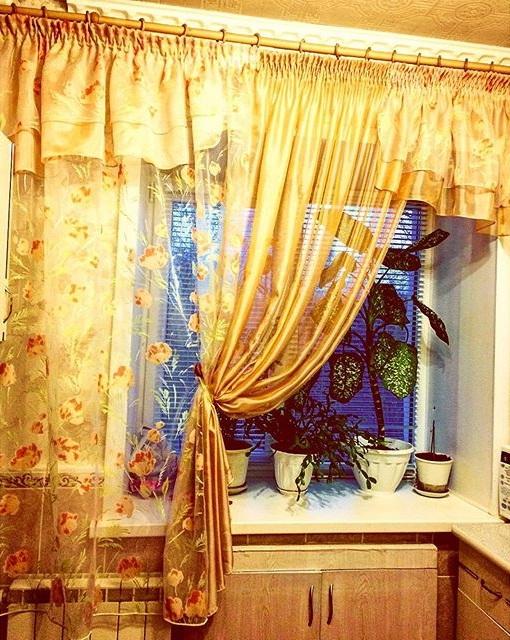 штори на кухню фото