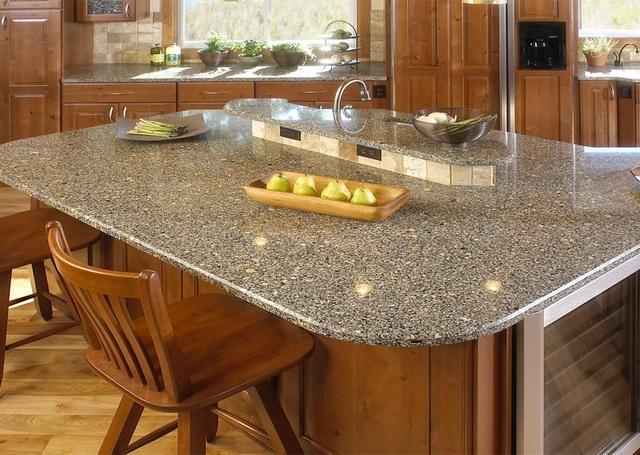 столешница кухни с натурального камня фото