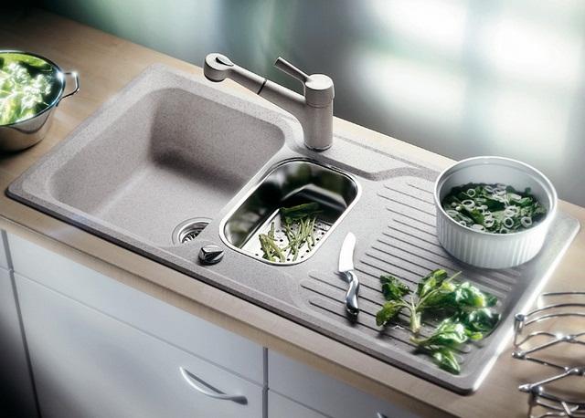 мийки для кухні зі штучного каменю фото