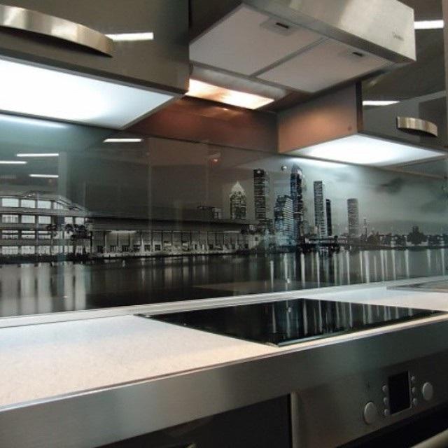 скинали для кухни ночной город фото