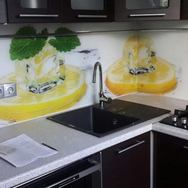 скляний фартух для кухні фото