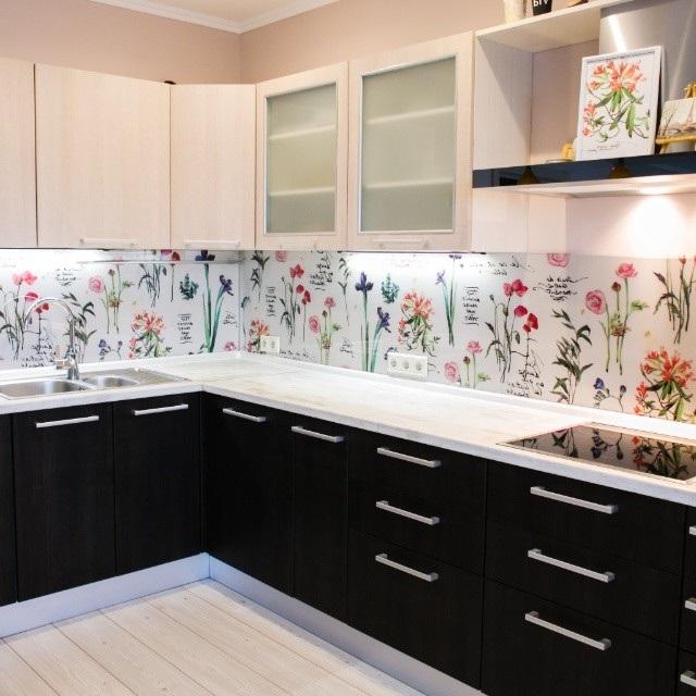 скинали для кухни цветы фото