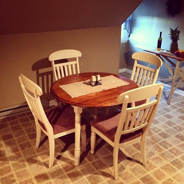 маленькі круглі столи на кухню фото