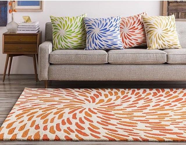 килим на підлогу в вітальню