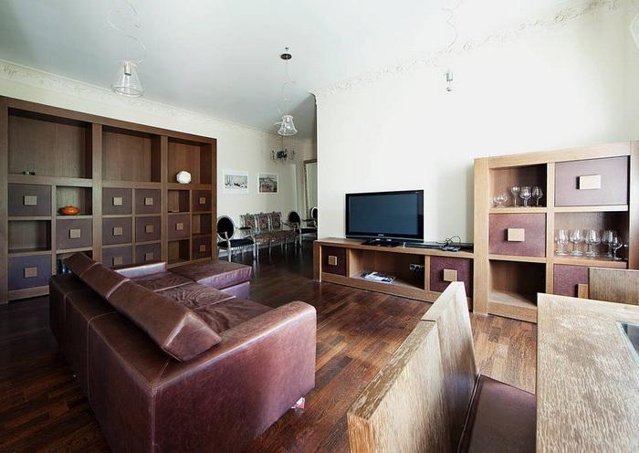 модульной шкаф в гостиную фото
