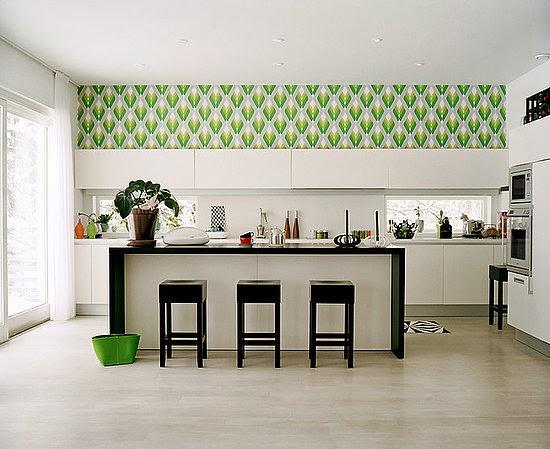 флізелінові шпалери на кухню фото