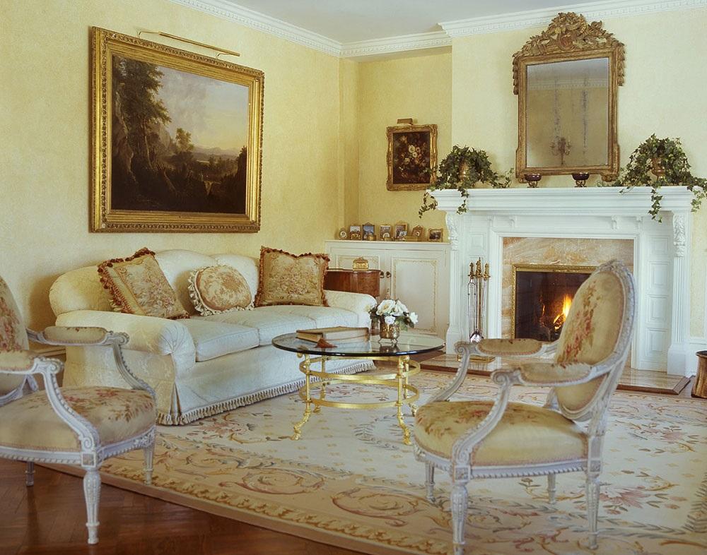 інтер'єр вітальні в французькому стилі фото