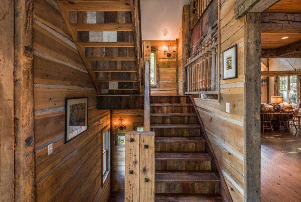 дерев'яні сходи в будинку фото