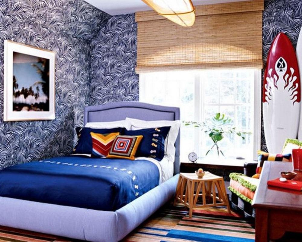 интерьер детской комнаты в морском стиле фото