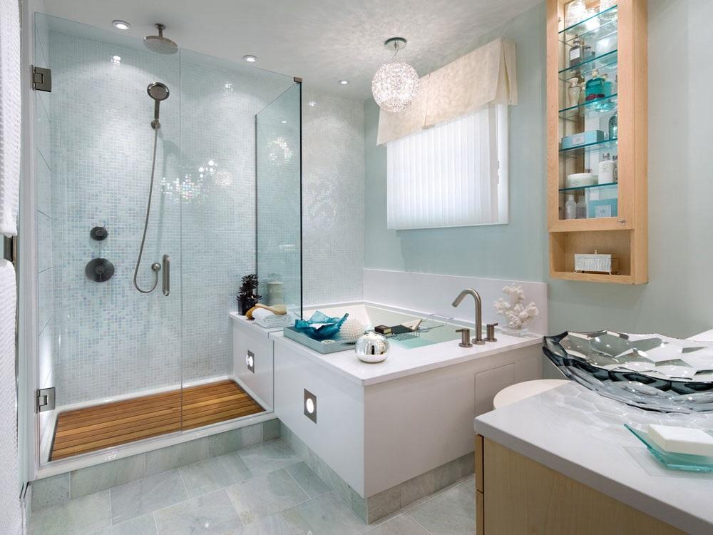 інтер'єр ванної кімнати в морському стилі фото