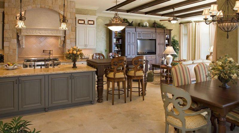 інтер'єр кухні в іспанському стилі фото