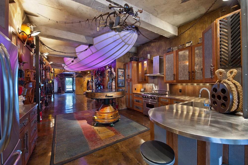 інтер'єр кухні в стилі стімпанк фото