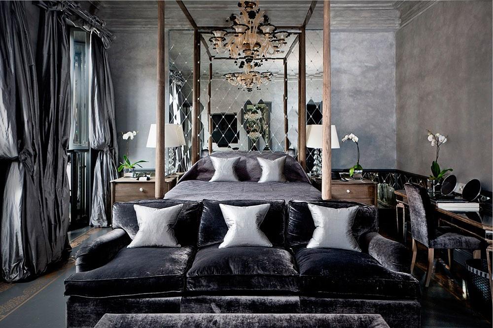 інтер'єр спальні в стилі стімпанк фото