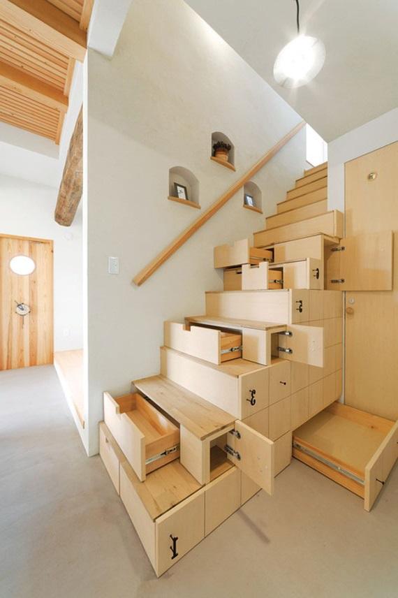 лестница с шухлядами фото
