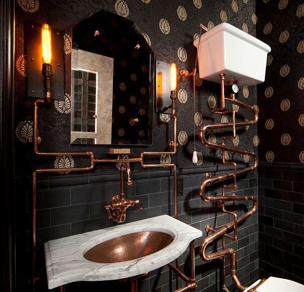 ванна кімната в стилі стімпанк фото