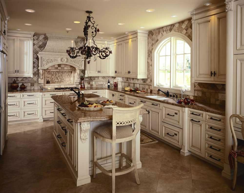 п образная белая кухня фото