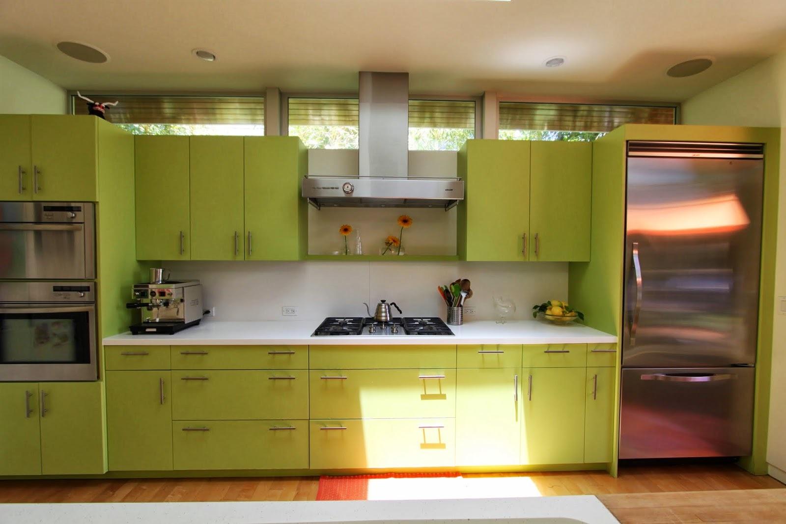 зелена кухня фото
