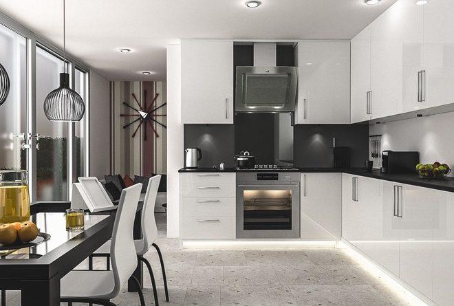 чорно білі кухні дизайн фото