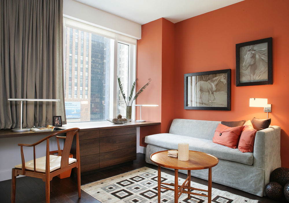 помаранчевий колір в інтер'єрі фото