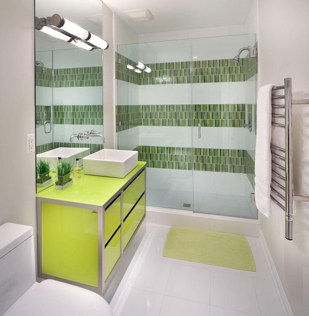 зелена ванна кімната фото