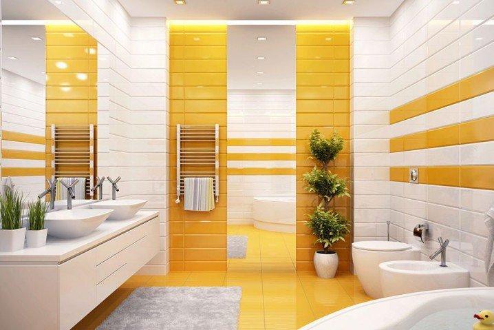 жовта ванна кімната фото