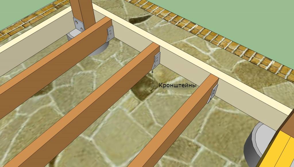 дерев'яна підлога в альтанці своїми руками
