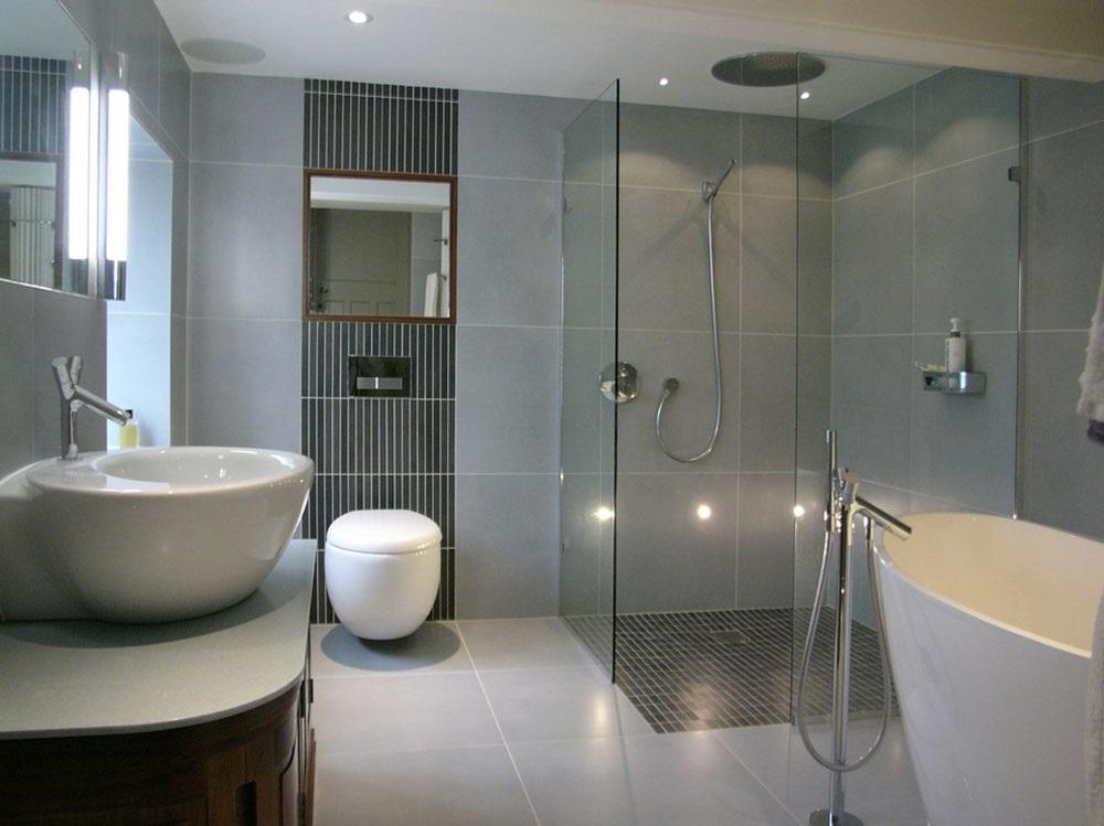 чорно сіра ванна кімната