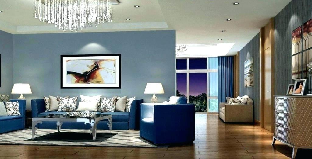 класична вітальня в синіх тонах